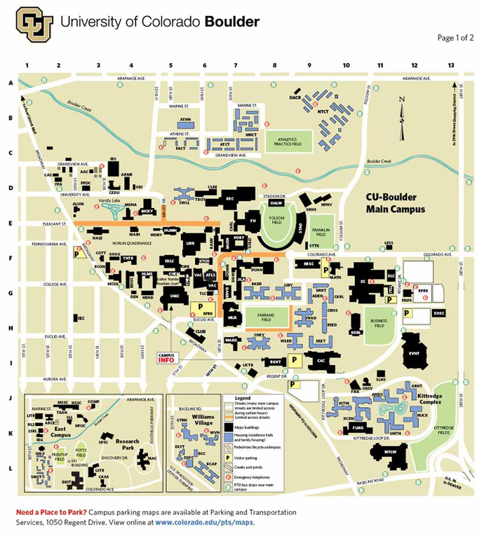 Campus Map | University Catalog 2015 2016 | University of Colorado